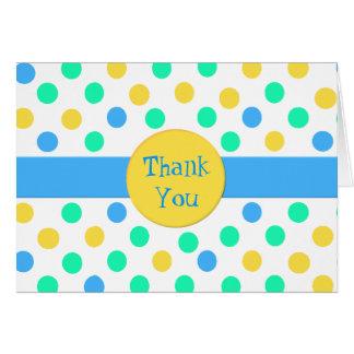 Bright Fun Polka Dot Thank You Card