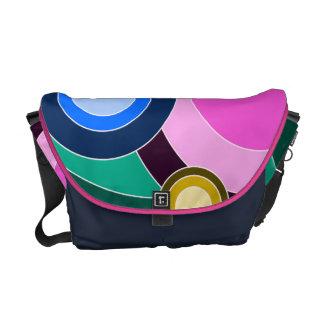 Bright & Fun Retro Circles Messenger Bag