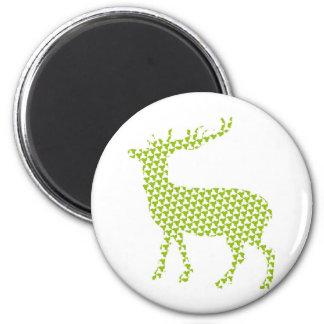 Bright funky deer 6 cm round magnet