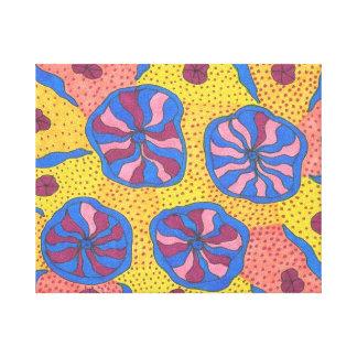 Bright Futuristic Flower Garden Canvas Prints