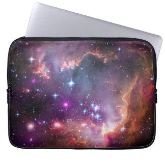 Bright galaxy laptop sleeve