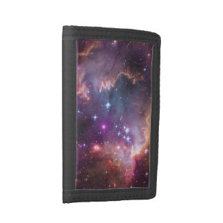 Bright galaxy tri-fold wallets