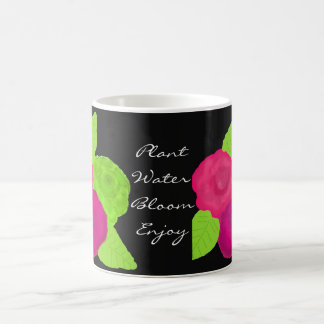 Bright Garden Flowers with Saying Coffee Mug