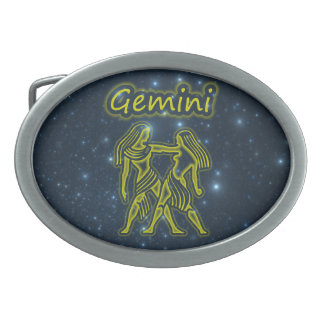 Bright Gemini Belt Buckle