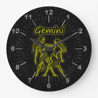 Bright Gemini Large Clock