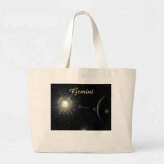 Bright Gemini Large Tote Bag