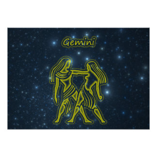 Bright Gemini Poster