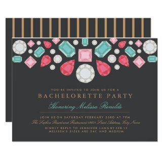 Bright Gems Bachelorette Party Invite