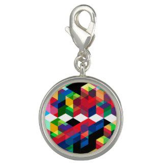 Bright Geometric Diamond Pattern