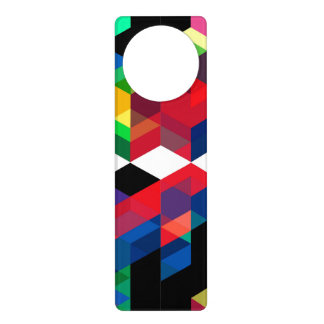 Bright Geometric Diamond Pattern Door Hanger