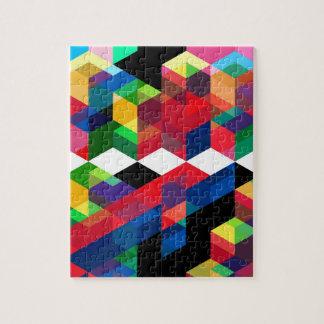 Bright Geometric Diamond Pattern Jigsaw Puzzle
