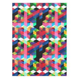 Bright Geometric Diamond Pattern Tablecloth