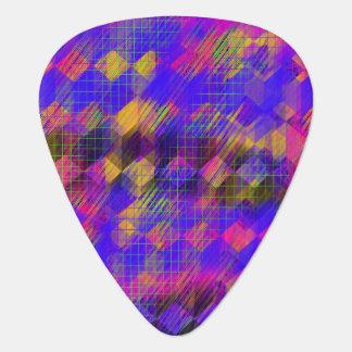 Bright Geometric Guitar Picks