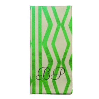 Bright Geometric Mint Green Patterned Napkin