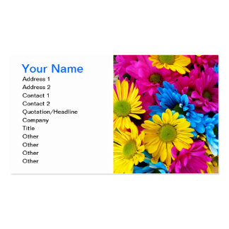 Bright Gerber Daisies Business Card Template