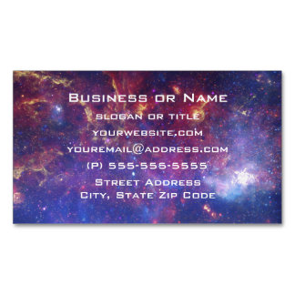 Bright Glowing Galaxy in Outer Space Magnetic Business Cards