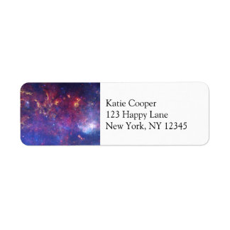 Bright Glowing Galaxy in Outer Space Return Address Label
