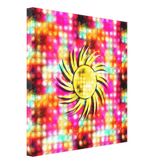 Bright Glowing Sun Canvas Print