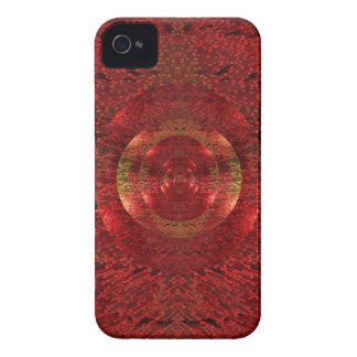 Bright Gold and Orange 3D Pattern Design Love iPhone 4 Case