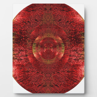 Bright Gold and Orange 3D Pattern Design Love Plaque