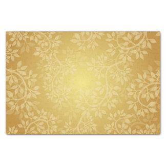 Bright Gold leaf design Tissue Paper