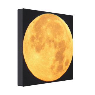 Bright Golden Moon Canvas Print