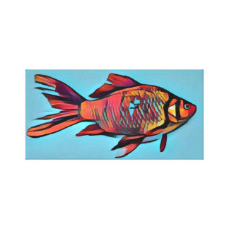 Bright Goldfish Painting Canvas Print
