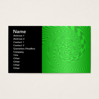 Bright Green Abstract Design Business Card