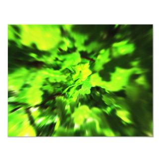 Bright Green Abstract. Invitation