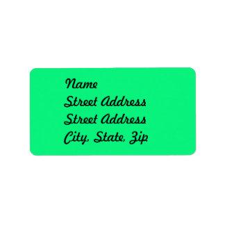 Bright Green Address Sticker Address Label