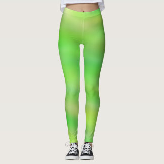 Bright Green and Yellow Leggings
