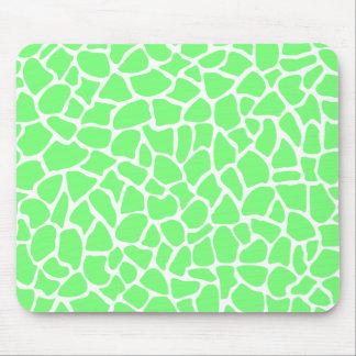 Bright Green Animal Print Giraffe Pattern Mousepad