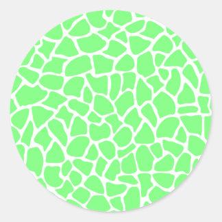 Bright Green Animal Print Giraffe Pattern Stickers