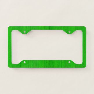 Bright Green Bamboo Wood Grain Look Licence Plate Frame