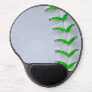 Bright Green Baseball / Softball Stitches Gel Mouse Pad