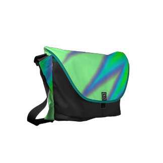 Bright Green Blue Peak Courier Bags
