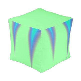 Bright Green Blue Peak Pouf