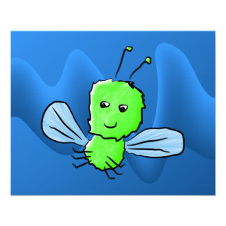 Bright Green Bug Flying Insect 11.5 Cm X 14 Cm Flyer