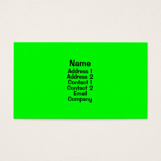 Bright Green Business Card