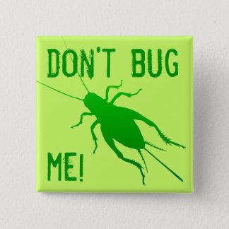 Bright Green Cricket 15 Cm Square Badge