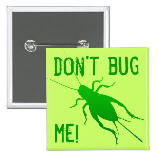Bright Green Cricket 15 Cm Square Badge
