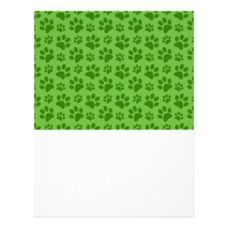 Bright green dog paw print pattern 21.5 cm x 28 cm flyer