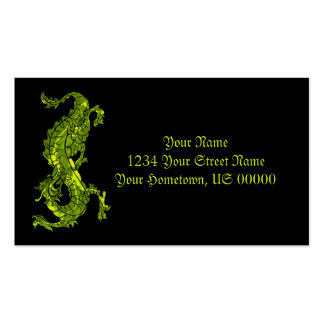 Bright Green Dragon Business Card