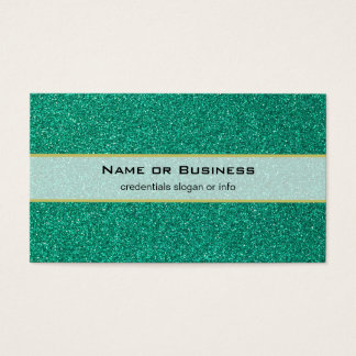 Bright Green Faux Glitter Texture Business Card