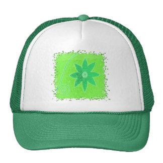Bright green flower hat