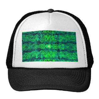 Bright Green Futurism Textured Pattern Design Trucker Hat
