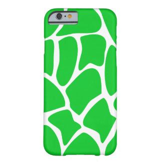 Bright Green Giraffe Pattern. Barely There iPhone 6 Case