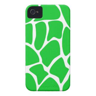 Bright Green Giraffe Print Pattern. Case-Mate iPhone 4 Case