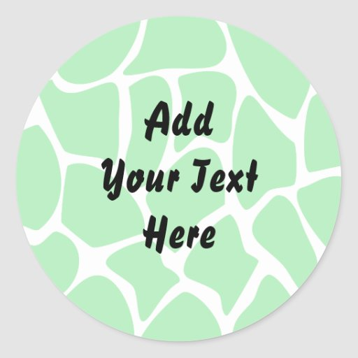 Bright Green Giraffe Print Pattern. Stickers