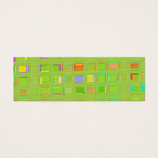 Bright Green Glass Mosaic Tiles custom Digital Art Mini Business Card